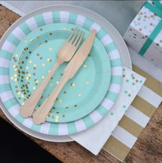 """One of our best-selling color lines is back in stock!  Get ready for the next """"Mint to Be"""" birthday party or baby shower with this luxe designer collection."""