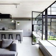 Congratulations to Architects EAT - the Melbourne practise who are the winners of the Australian Interior Design Awards 2016 for Residential Design. The Fitzroy Loft reinterpreted from factory to family home. Australian Interior Design, Interior Design Awards, Home Interior, Interior Design Kitchen, Interior Design Inspiration, Modern Interior, Interior Architecture, Interior And Exterior, Interior Decorating