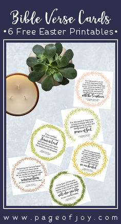 free Bible verse card printables for Easter. Pretty Scripture prinables help you center on the real reason for the season! Create a more meaningful easter celebration. Use as Easter decoration, Easter art, Easter gifts, Easter place cards, easter banner and more! FREE! <3