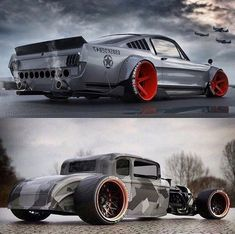 Rat Rod 'nd Muscle Car #mustang #ratrod