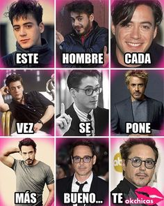 Es como un buen vino, You can collect images you discovered organize them, add your own ideas to your collections and share with other people. Mundo Marvel, Marvel Avengers, Avengers Memes, Marvel Memes, Robert Downey Jr Young, Kpop Anime, Funny Minion Memes, Iron Man Tony Stark, Downey Junior
