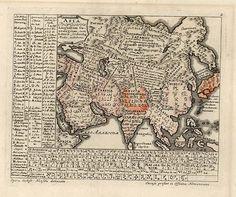 Готтфрід Генсель. Мапа європейських мов, 1741