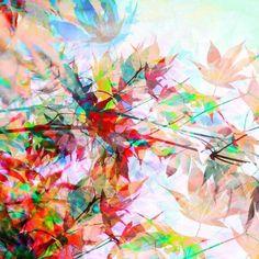Abstract Autumn 2 als Leinwandbild von Mareike Böhmer | JUNIQE