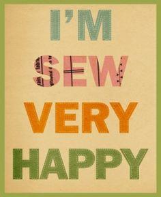 Sew Happy Poster