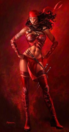 ELEKTRA concept art by •Warren Manser