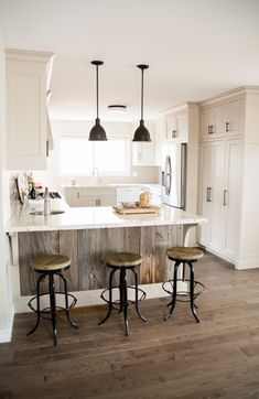 Not my style- but almost perfect layout for tiny kitchen