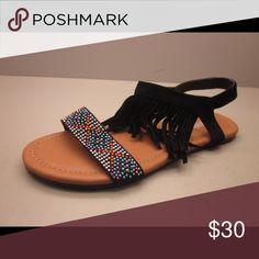 Stylish Ankle Black Strap Calzashombre Ladies Man Made Flat Really Fringe Estilosandalias With Con Suede Sandal x8RRAqwg
