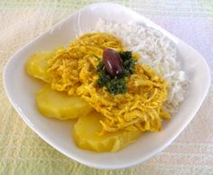 Aji De Gallina - Spicy Yellow Chicken