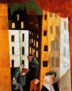 Lyonel Feininger, Architecture II, 1921