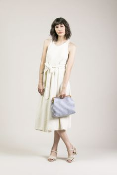 Wrap Dress, Cream by Black Crane #kickpleat #blackcrane