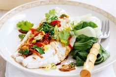 Spice up your cooking and eating with this flavoursome steamed fish dish.