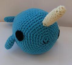 Big Amigurumi Narwhal - PDF crochet pattern
