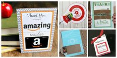 My favorite free printables for teacher gift cards! Love this DIY teacher appreciation idea!