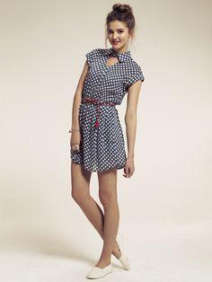 spoty dress by dahlia