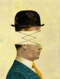 by Gerard DuBois. Art And Illustration, Illustrations, Magritte, Photomontage, Collages, Art Du Collage, Animal Heads, Art Graphique, Portrait Inspiration