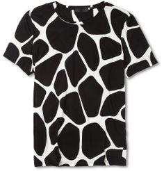 Burberry ProrsumGiraffe-Print Cotton-Jersey T-Shirt. Why not?