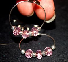 $10.00 Small pink hoops