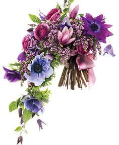 Lilac cascade bouquet for the bride