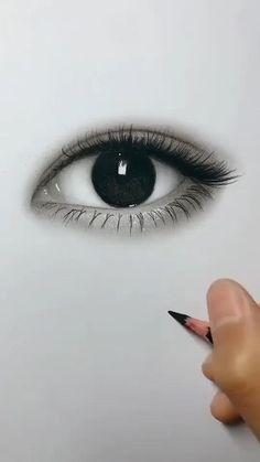 3d Art Drawing, Girl Drawing Sketches, Art Drawings Sketches Simple, Pencil Art Drawings, Drawing Base, Pencil Sketching, Charcoal Drawing, Drawing Of An Eye, Sketches Of Eyes