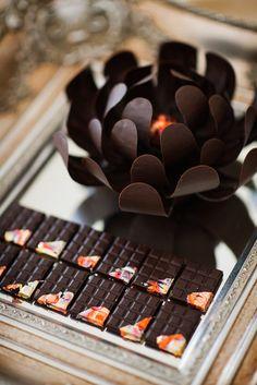 Beautiful chocolate flower
