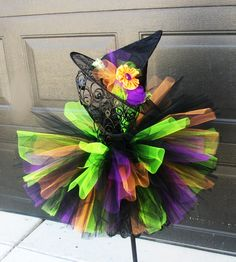Whimsical Witch Tutu Halloween Costume