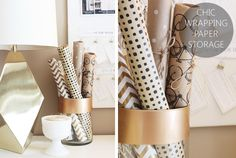 Chic wrapping paper storage - featured image