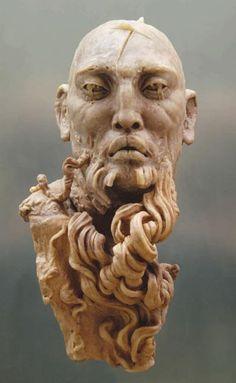 "Artist""Javier Rodriguez Borgio I think this is a marble sculpture. The detail is amazing. Sculptures Céramiques, Sculpture Art, Javier Marin, Santa Barbara Museum, Driftwood Sculpture, Mexican Artists, Museum Of Fine Arts, Ceramic Art, Ceramic Figures"