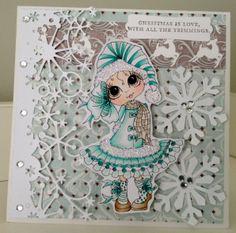 Sherri Baldy Image xmas card Embellished Handmade Etsy Store