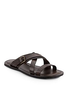 0c116086865d Saks Fifth Avenue Made in Italy - Perforated Leather Strappy Slides