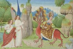 The Whore of Babylon at apocalypse in Pierpont Morgan MS M. 68.