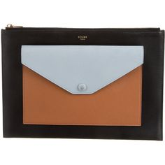 faux croc luggage - Celine Colorblock Envelope Clutch - Beautiful pre-owned luxury ...