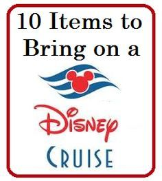 Want to know what you should pack for your Disney Cruise? Check out this list of 10 Items to Bring on a Disney Cruise - Disney Insider Tips