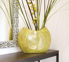 San Remo vase lime - statement of shape, deisgn & colour.