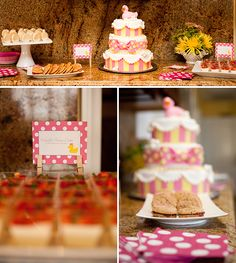 I LOVE rubber duckies, this is so cute!  Rubber Ducky Baby Shower - for a GIRL