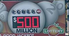 Forbes 10 steps if you win the lottery.  The approx. $500 million Powerball jackpot tonight is the 5th largest in U.S. history. According to USATODAY, it's been more than two months since
