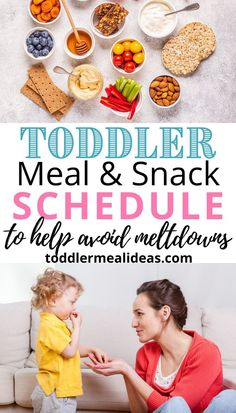 Meal Time Schedule, Eating Schedule, Toddler Schedule, Baby Schedule, Healthy Toddler Meals, Toddler Snacks, Healthy Kids, Toddler Activities, Toddler Learning