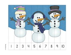 Snowmanprek This page pack is intended for kids aged What's in the pack? Numbers Preschool, Kindergarten Activities, Preschool Activities, Winter Activities For Toddlers, Toddler Activities, Puzzles, Preschool Cutting Practice, Kids Math Worksheets, Math For Kids
