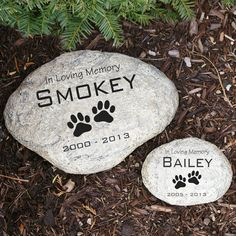 Pet Garden Stones Personalized pet dog cat paw print memorial cemetery grave marker engraved pet memorial garden stone workwithnaturefo