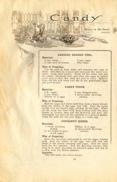 Candy (1911 Pillsbury cookbook). shared recipes for popular…