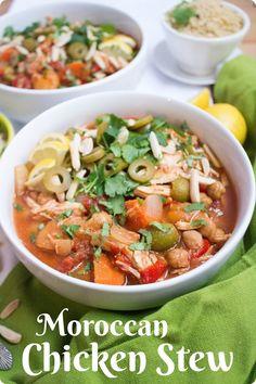 Slow cooker Moroccan Chicken Stew | easy dinner idea | healthy slow cooker recipe | slow cooker chicken stew | crockpot recipe idea | easy crockpot recipe |