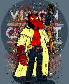 Stan Smith - Hellboy, American Dad American Dad, Stan Smith, Deadpool, Dads, Family Guy, Superhero, Fictional Characters, Stan Smith Style, Fathers