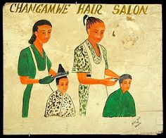 African Barbershop Sign.