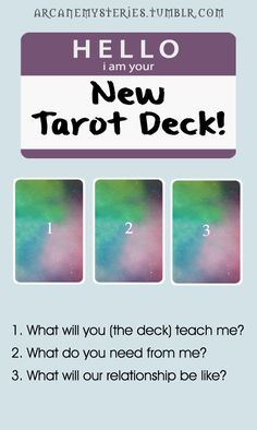 new tarot deck spread