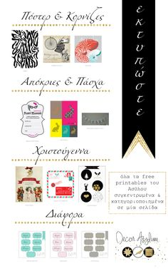 Decor Asylum's free printable page (posters, lables, Easter, Christmas, & more)