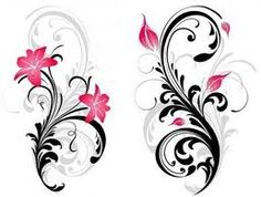 Oh I'm loving the flourish behind this lilly on the left. It'd work nicely for my tattoo I think.  Mel!!!!