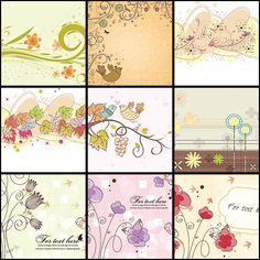 Pastel backgrounds spring set vector