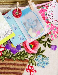Beautiful Spring Inspired Paper Kit via Inspire Lovely ETSY