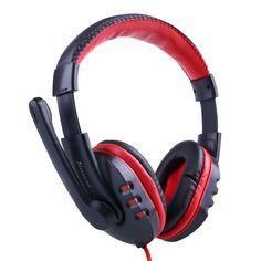 2016 New Pro Skype Gaming Stereo Headphones Headset Earphone Mic For PC Computer Laptop Gaming Earphones