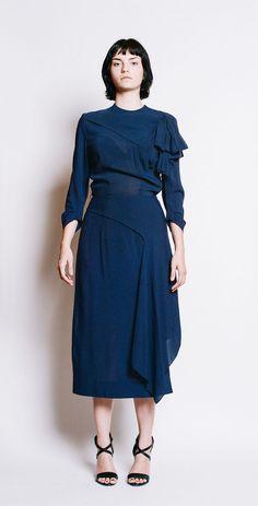 EISENBERG ORIGINALS Vintage 1940s Midnight bias cut dress