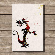 Art de pépinière Mulan disney illustrations aquarelle art enfants chambre mur art art home déco